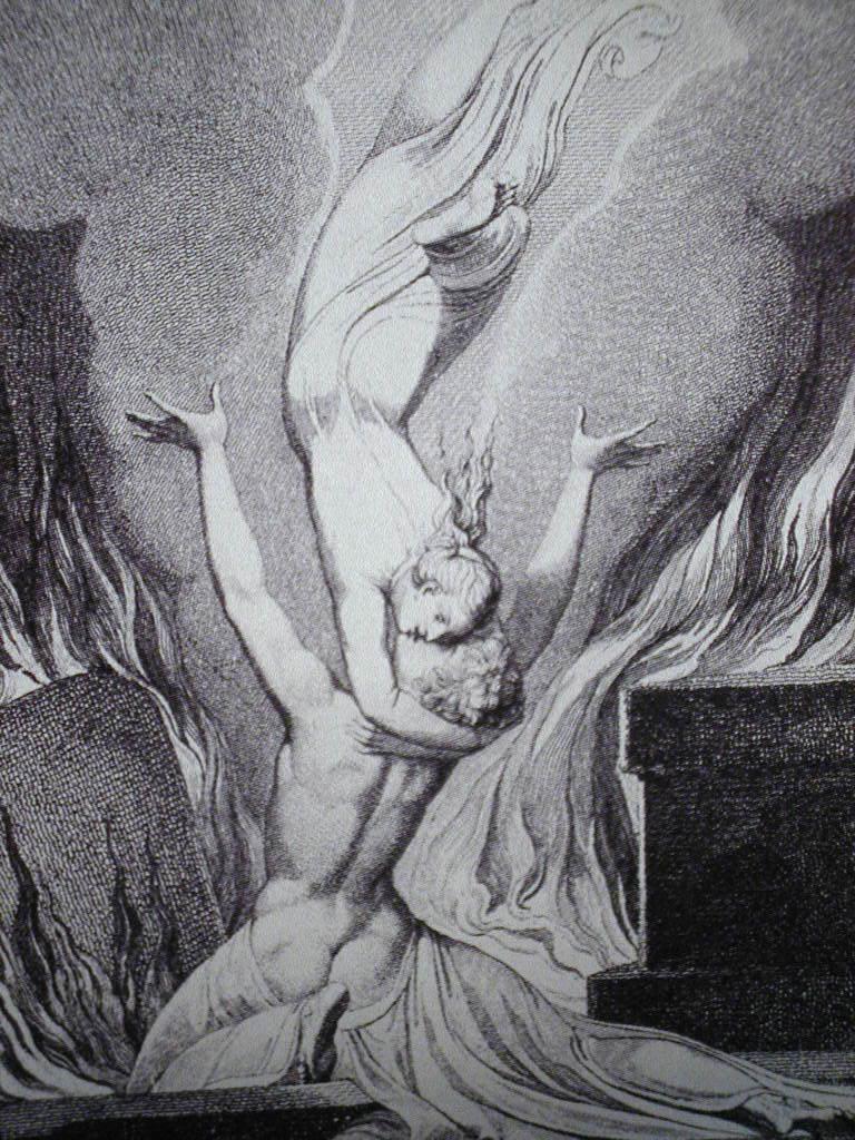 reunión de alma y cuerpo de William Blake